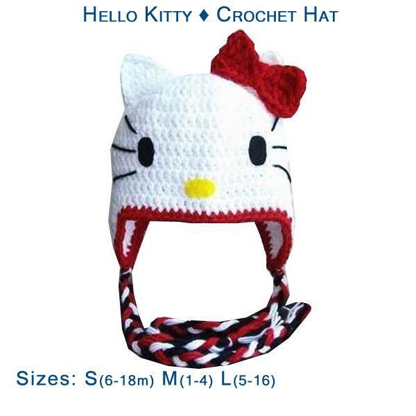 Hello Kitty Crochet Hat Gabs Cutiewear