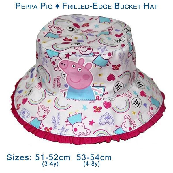 fb50ba4236e06 Peppa Pig - Frilled-Edge Bucket Hat - Gab s CutieWear